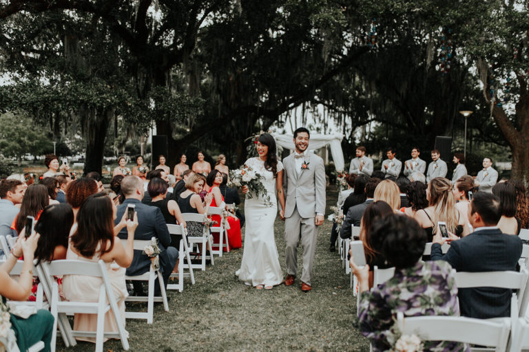 New Orleans Museum of Art wedding in the sculpture garden by Ruby and Pearl Events