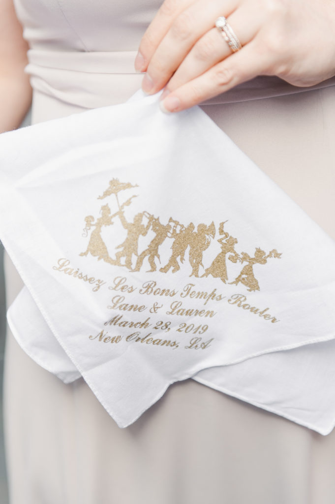 Ruby and Pearl Events Custom Handkerchief New Orleans Wedding