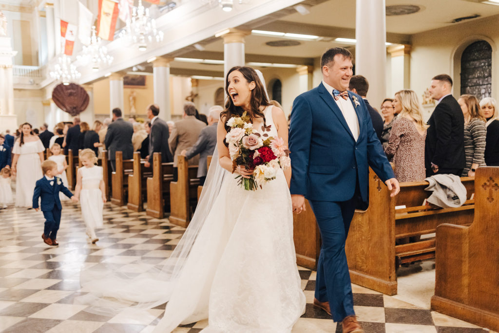 Newlyweds New Orleans Church Ceremony