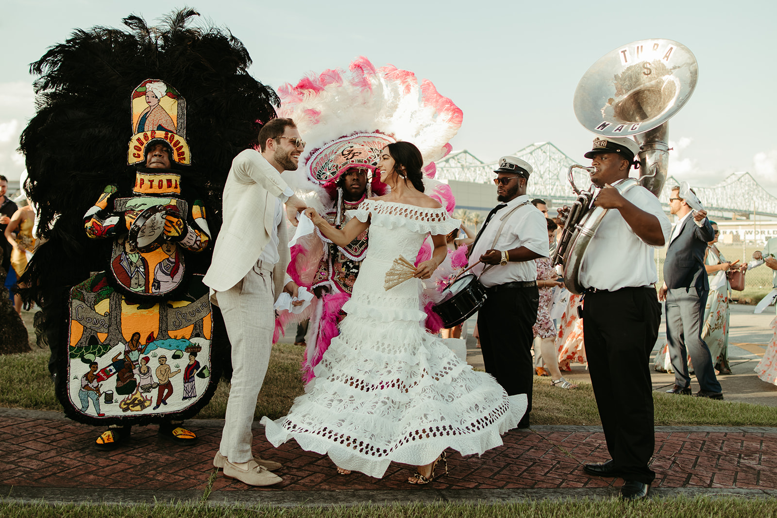 New Orleans wedding planners Ruby and Pearl Events second line